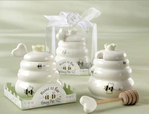 وصول جديد يعني أن النحل السيراميك وعاء العسل رخيصة + 100SET / Lot حفل زفاف لصالح استحمام الطفل الهدايا