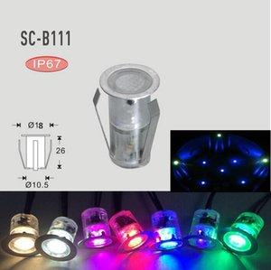 Mini LED Deck Lampe LED Stehleuchte 18mm Durchmesser Small Size LED Terrasseneinbauleuchte für Garten / Bauhalle / Hotell / Villa Deck Schritt