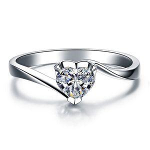 100% стерлингового серебра 925 горячей продажи 18k позолоченные 1 карат SONA имитация Алмаз обручальные кольца, стерлингового серебра кольцо для женщин кольцо