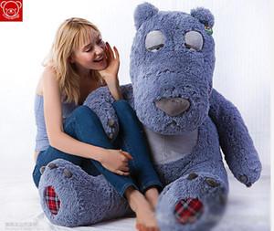 2015 Sleepy Teddy Bear Large 1.5M Hug Bear juguetes de peluche de juguete muñeca grande regalo de cumpleaños encantador Día de San Valentín Plus Animales de fábrica de regalos de peluche