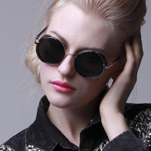2016 년 최신 유행의 오스카 선글라스 파리 패션 위크 고대 스타일의 둥근 금속 프레임 선글라스를 복원하는 스타 스타일