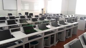 Flip multimedia school classroom computer desk computer desk