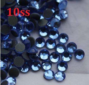 1440pcs 10SS 3mm Licht Saphir Hot Fix Strass Perlen zum Nähen