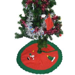 Toptan-Yuvarlak Kardan Adam Noel Baba Ev Dekorasyon Şenlikli Malzemeleri Xmas Tree Etek