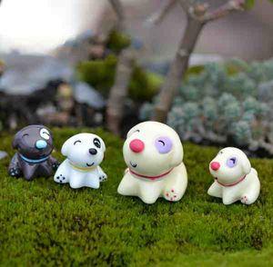 Cute Sitting Dog Moss Zakka Mini Micro Paesaggio Resina Artigianato Decorazione FAI DA TE Accessori torta Fata Giardino materiale terrario fai da te