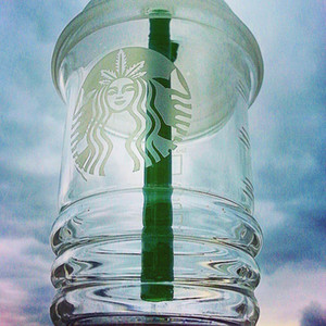 Dabuccino Cup Rig Starbucks Cup Glasbong Sandblasted Starbucks Cup Glaspfeifen Dab Concentrate Oil Rig Glas Wasserbongs Wasserpfeifen