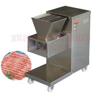 Livraison gratuite 110v 220v QW Modèle Meat Cutter Restaurant Meat Slicer machine 800KG / h machine de découpe de viande