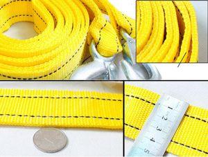 5 Ton / 5 metre Araba Tow Kablo Çekme Halatı Halat ile Hooks Acil Ağır Yeni Kaliteli çekme halatı
