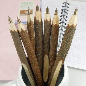 빈티지 수제 나무 볼펜 나뭇 가지 공 펜 결혼식 파티 선물 학교 사무 용품