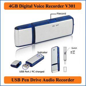 2 في 1 البسيطة 4GB USB 2.0 تسجيل صوتي رقمي مسجل تسجيل الإملاء قابلة للشحن حملة القلم الصوت الصوت 150 ساعة WAV PQ141