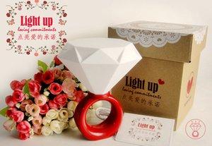 LED ring light romantic couples Nightlight 6pcs a bag, Valentine's Day gift ideas diamond lights, USB \ lamp with power adapter