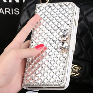 For iphone 7 Luxury Bling Rhinestone Diamond wallet Flip leather cover case For Iphone 6s plus Iphone 5s Galaxy S7 edge Note 5