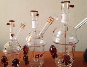 "2016 Cheech Glass Cheechaccino Cheech Honey Cup Dabuccino aparejo cheech HoneyDrips El Honeycup ""Drips Sandblasted Cup Rig Mini Glass Hookah"