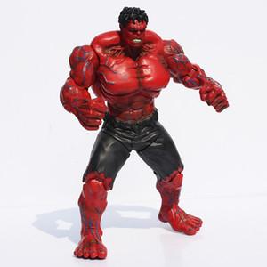 """Kırmızı Hulk Action Figure Avengers 10 """"PVC Şekil Oyuncak Eller Ayarlı Film Severler Koleksiyonu Ücretsiz kargo"""