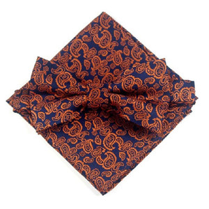 floral bow tie handkerchief polyester bowknot hanky set for men business wedding print yellow butterfly pocket square
