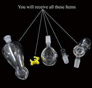 3 Fonctions pièce Tuyau à main Helix avec clip Vase en verre Perc Perc Perceur d'eau 14.5mm joint