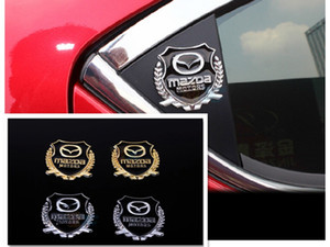 Auto parts Mazda 3   right wing star import Leon g Sarah logo design  car side window door rear metal decorative stickers