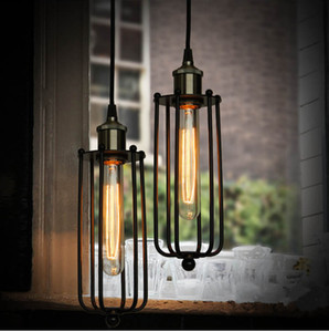 Sıcak Vintage Edison Endüstriyel Tavan Sarkıt Asılı Aydınlatma Loft Amerikan Country Restoran Yatak Odası Lamba Avrupa Retro demir lambaları