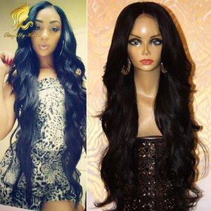 Full Lace Perruques de Cheveux Humains Longs Ondulés Avant de Lacet Perruques Non Transformés Humaine Mongole Water Wave Perruques De Cheveux Pour Les Femmes Noires En Stock