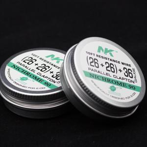 NK yeni ürün Ni90 çift erimiş clapton 26ga 28ga 36ga alien clapton vape mod için önceden oluşturulmuş tel nichrome90 tel
