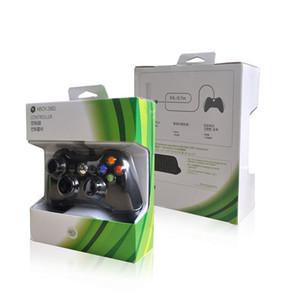 Para Microsoft Xbox 360 Controlador de juegos con cable USB Gamepad Golden Camouflage Joystick Game Pad Controlador de doble choque 2017 Nuevo 1 PCS