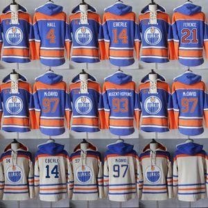 Hoodie des Oilers d'Edmonton Blank 97 Connor McDavid 4 Taylor Hall 14 Eberle 21 Andrew Ference 93 Ryan Nugent-Hopkins Sweats à capuche pour hommes