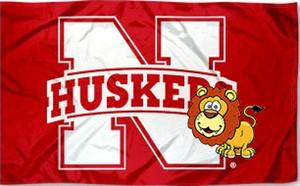 Небраска Cornhuskers флаг лузги N логотип большой флаг 3x5ft пользовательские команды болельщиков флаг