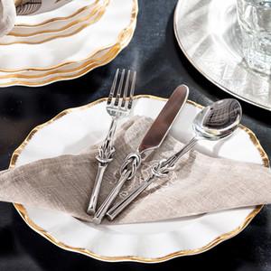 India ranghi alto rendimento decorazioni per la casa ornamenti forniture alimentari coltello in lega e forchetta cucchiaio tre serie
