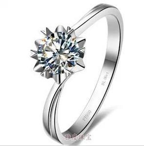 Ücretsiz Kargo Güzel Toptan-ABD GIA sertifikası 1ct, sona elmas, moissanite elmas yüzük seti, altın kaplama gümüş parmak