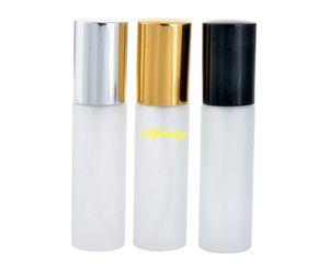 100 adet / grup 10 ML Sprey Şişe Boş Mat Cam Atomizer Parfüm Şişeleri Mini Sıvı Uçucu Yağ Kozmetik Konteyner