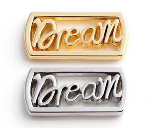 20 adet / grup Gümüş Altın Kaplama Mektubu Rüya Yüzen Pencere Plakaları Manyetik Bellek 30 MM Cam Charms Locket Için Fit