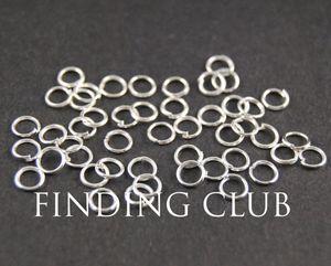 500 pz 4mm 5mm 6mm Argento placcato Open Jumprings Jump rings - Forniture per gioielli fai da te
