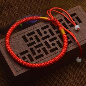 Al por mayor de la cuerda 10 Pc Nueva 16cm pulsera clásico rojo de cuerda chino afortunado Hilo Rojo pulsera del abrigo del envío libre de la buena suerte