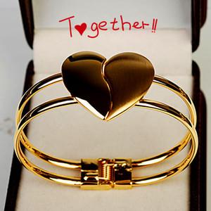 """8 pcs Epacket Livre Moda Feminina Elegante geado em forma de coração pulseira de jóias Coreano 'Heart dependent """"pulseira de Jóias de casamento"""