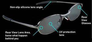 Mode Anti-Track Rear View Lunettes de soleil portable Anti-Track Moniter Lunettes de soleil polarisées lunettes de soleil pour femme avec boîte de détail