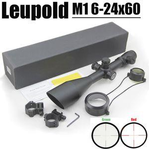 Leupold MARK 4 M1 6-24x60 mm Gewehr Mühle Dot Scope mit Beleuchtet Rot und Grün kommen mit Paar 20 mm Schiene Mounts