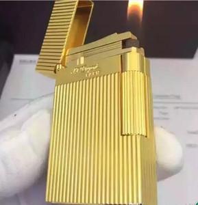 Nuevo ST conmemorativo encendedor de cobre puro LING2 serie de oro de sonido brillante encendedor de gas