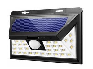 Le plus récent en plein air 34/66 LED solaire Split Powered Ampoule PIR détecteur de mouvement 3 Modes rue Jardin séparé étanche lampe de nuit Applique murale