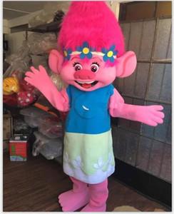 2018 Vente directe d'usine Costume De Mascotte Trolls Direction Mascot Défilé Qualité Clowns Anniversaires Troll parti fantaisie Robes