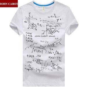도매 무료 배송 브랜드 존 CABOT 여름 M - 5XL 망 t 셔츠 반소매 O 넥 인쇄 수학 공식 플러스 크기 남성 의류