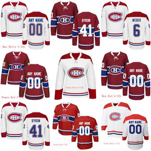 Mens Womens Youth 92 Jonathan Drouin 65 Andrew Shaw 41 Paul Byron 31 Carey Price 6 Shea Weber Custom Hockey Jerseys
