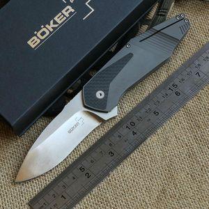 BK GTC шарикоподшипник Flipper Складной нож из титана с углеродным волокном Ручка 440C лезвие Тактический кемпинг охота открытый выживания EDC ножи инструмент