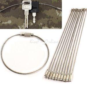 Llavero caliente del cable del llavero del alambre de acero inoxidable de la moda para caminar al aire libre