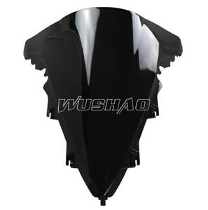 Мотоцикл двойного пузыря лобовое стекло лобовое стекло для 2009-2014 Ямаха YZF 1000 R1 в 09 10 11 12 13 14 2010 2011 2012 2013 черный