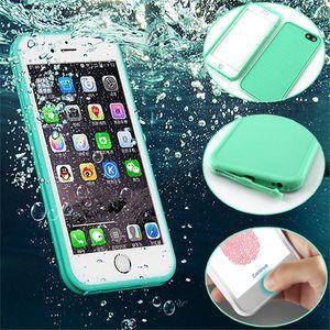 iPhone X 8 7 6 6S Artı 5S Samsung S7 S9 Plus için TPU Tam boday Su Geçirmez Kasa Kapağı Şok geçirmez Toz geçirmez Dalış Kutuları