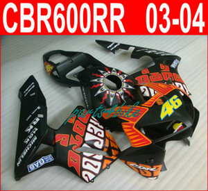 Clean Repsol black 46 bodywork for Honda fairings CBR600RR 2003 2006 CBR 600RR 03 04 fairing kit CBR 600 RR VOAH