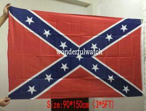 Цена по прейскуранту завода две стороны печатных флаг Конфедерации Rebel Гражданской войны флаг национальный флаг полиэстер 3*5 футов 100шт