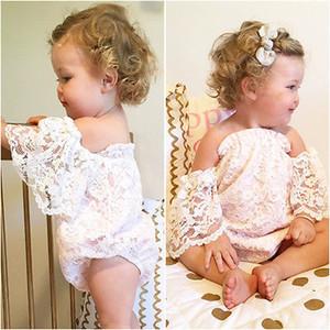 Младенческая одежда детские Rompers летний дизайн Детские девушки одежда кружева муха рукавные комбинезоны малыша наряды хлопка боди младенца подняться одежда