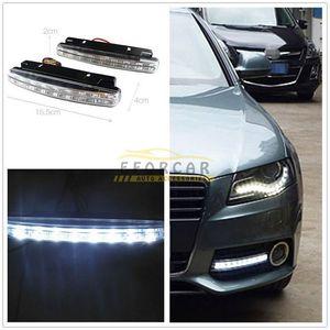 Beyaz 8 LED 12 V Araba Trunk Gündüz Çalışan Işık Başkanı Lamba DRL Günışığı Takımı Ücretsiz Kargo