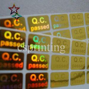 Etiqueta de alta calidad al por mayor del holograma de la garantía / etiquetas engomadas del holograma / etiqueta engomada de encargo del holograma